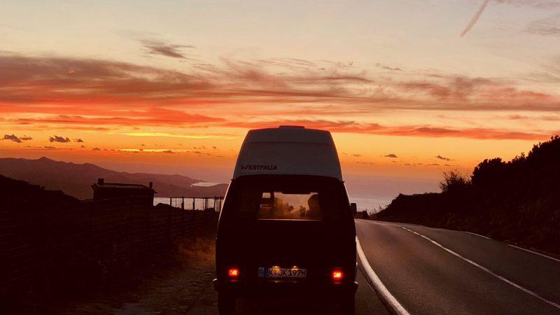 sunset at east coast